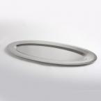 Plat ovale inox  60 x 25 cm